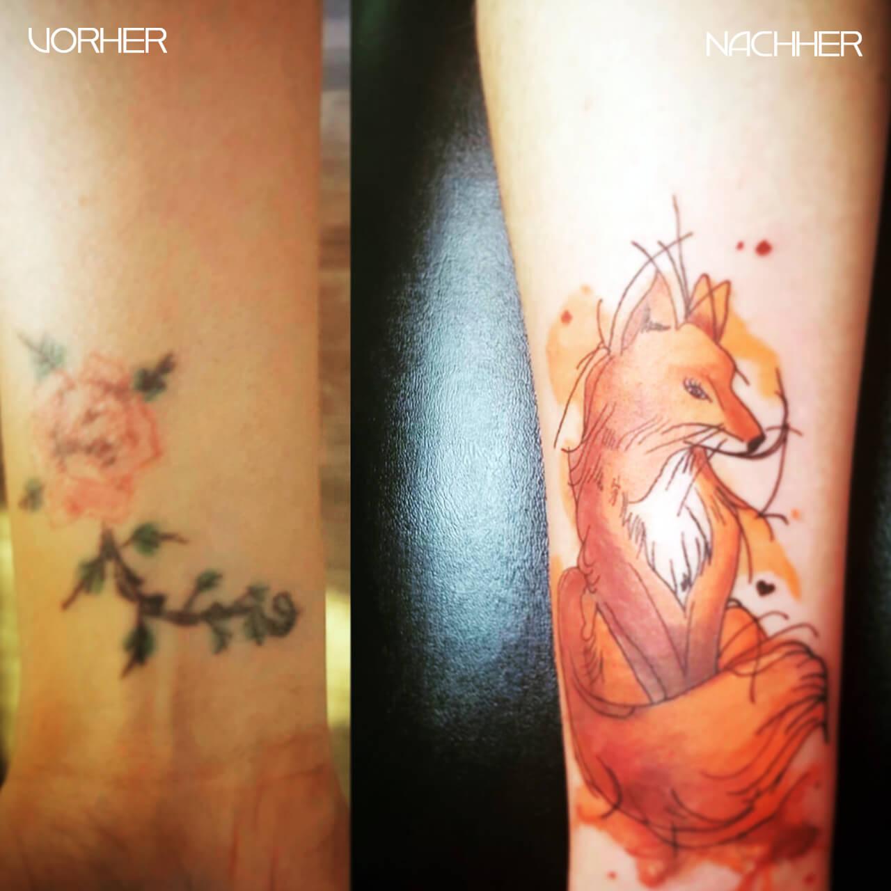Amt für Schönheit Tattoo Cover Up Fuchs